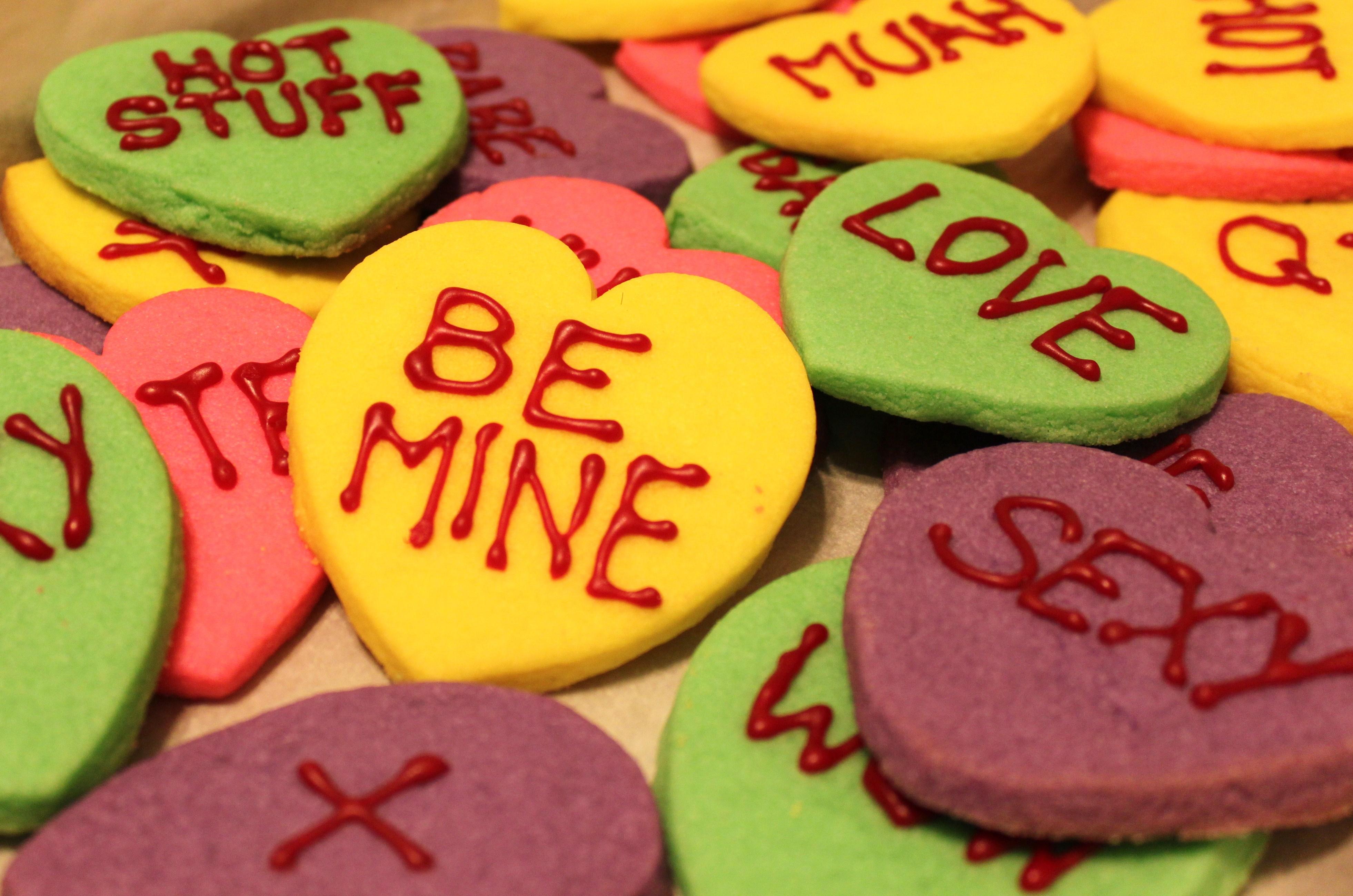 Conversation Heart Cookies Recipes — Dishmaps